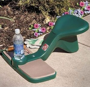 bookofjoe Down Low Gardening Kneeler with Drink Holder
