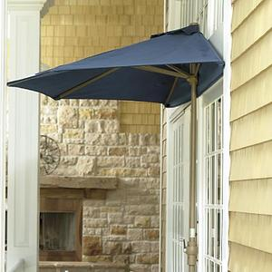 Patio Umbrella - Compact Half Canopy Patio Umbrella