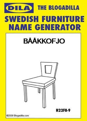 Swedish Furniture Name Generator