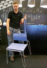 Bookofjoe Rubber Band Chair