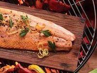 bookofjoe: Grilling salmon on a cedar plank: 'A gimmick